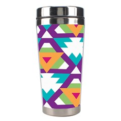 Triangles And Other Shapes Pattern Stainless Steel Travel Tumbler by LalyLauraFLM