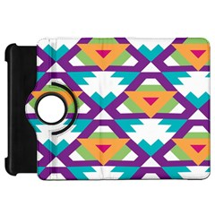 Triangles And Other Shapes Patternkindle Fire Hd Flip 360 Case by LalyLauraFLM