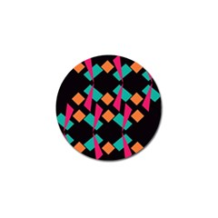 Shapes In Retro Colors  Golf Ball Marker (10 Pack) by LalyLauraFLM