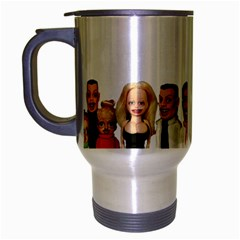Tete a claque cup Travel Mug (Silver Gray) by TheDean