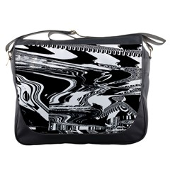 Bw Glitch 1 Messenger Bags by MoreColorsinLife
