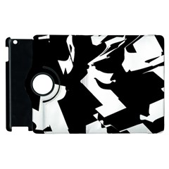Bw Glitch 2 Apple iPad 3/4 Flip 360 Case by MoreColorsinLife