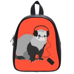 Funny Music Lover Ferret School Bags (small)  by CreaturesStore