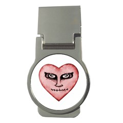 Angry Devil Heart Drawing Print Money Clips (round)  by dflcprints