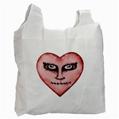 Angry Devil Heart Drawing Print Recycle Bag (two Side)  by dflcprints
