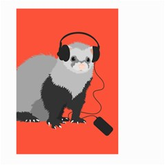 Funny Music Lover Ferret Large Garden Flag (Two Sides) by CreaturesStore