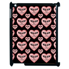 Angry Devil Hearts Seamless Pattern Apple iPad 2 Case (Black)