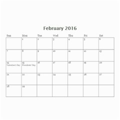 Lee By Tina   Wall Calendar 8 5  X 6    6s4oihm4aemc   Www Artscow Com Feb 2016