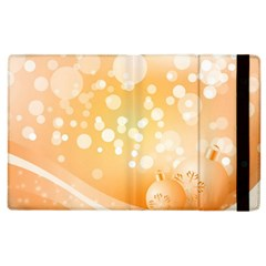 Wonderful Christmas Design With Sparkles And Christmas Balls Apple Ipad 2 Flip Case by FantasyWorld7