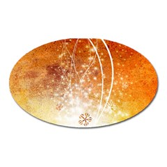 Wonderful Christmas Design With Snowflakes  Oval Magnet by FantasyWorld7