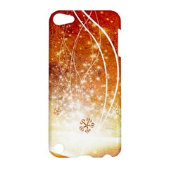 Wonderful Christmas Design With Snowflakes  Apple Ipod Touch 5 Hardshell Case by FantasyWorld7