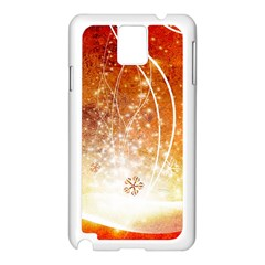 Wonderful Christmas Design With Snowflakes  Samsung Galaxy Note 3 N9005 Case (white) by FantasyWorld7