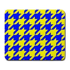 Houndstooth 2 Blue Large Mousepads by MoreColorsinLife