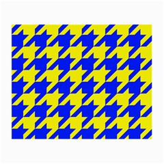 Houndstooth 2 Blue Small Glasses Cloth by MoreColorsinLife