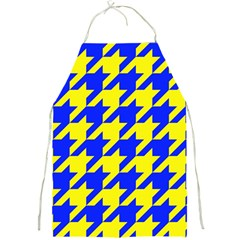 Houndstooth 2 Blue Full Print Aprons by MoreColorsinLife