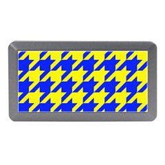 Houndstooth 2 Blue Memory Card Reader (mini) by MoreColorsinLife