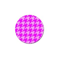 Houndstooth 2 Pink Golf Ball Marker (4 Pack) by MoreColorsinLife