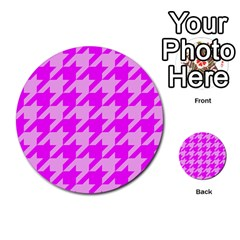 Houndstooth 2 Pink Multi Purpose Cards (round)