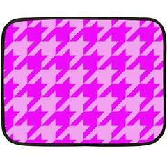 Houndstooth 2 Pink Fleece Blanket (mini) by MoreColorsinLife