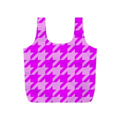Houndstooth 2 Pink Full Print Recycle Bags (s)  by MoreColorsinLife