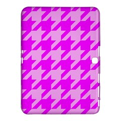 Houndstooth 2 Pink Samsung Galaxy Tab 4 (10.1 ) Hardshell Case  by MoreColorsinLife