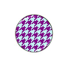 Houndstooth 2 Purple Hat Clip Ball Marker (10 Pack) by MoreColorsinLife