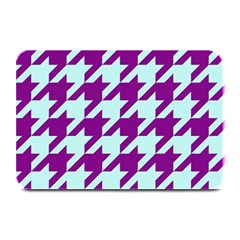 Houndstooth 2 Purple Plate Mats by MoreColorsinLife