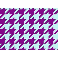 Houndstooth 2 Purple Birthday Cake 3d Greeting Card (7x5)  by MoreColorsinLife