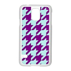 Houndstooth 2 Purple Samsung Galaxy S5 Case (white) by MoreColorsinLife