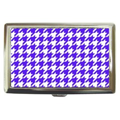 Houndstooth Blue Cigarette Money Cases by MoreColorsinLife