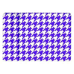 Houndstooth Blue Samsung Galaxy Tab 10.1  P7500 Flip Case by MoreColorsinLife