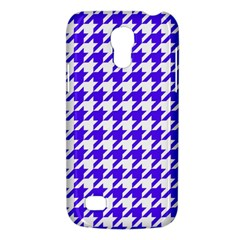 Houndstooth Blue Galaxy S4 Mini by MoreColorsinLife