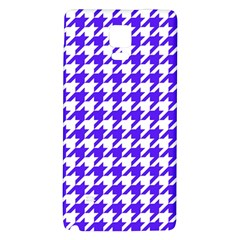 Houndstooth Blue Galaxy Note 4 Back Case by MoreColorsinLife