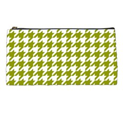 Houndstooth Green Pencil Cases by MoreColorsinLife