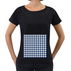 Houndstooth Midnight Women s Loose-Fit T-Shirt (Black) by MoreColorsinLife