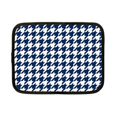 Houndstooth Midnight Netbook Case (small)  by MoreColorsinLife