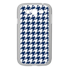 Houndstooth Midnight Samsung Galaxy Grand Duos I9082 Case (white) by MoreColorsinLife
