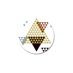 Colorful Modern Geometric Triangles Pattern Golf Ball Marker (4 Pack) by Dushan
