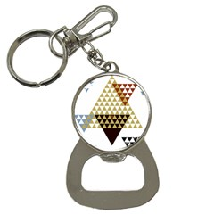 Colorful Modern Geometric Triangles Pattern Bottle Opener Key Chains by Dushan