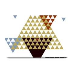 Colorful Modern Geometric Triangles Pattern Plate Mats by Dushan