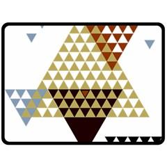 Colorful Modern Geometric Triangles Pattern Fleece Blanket (large)  by Dushan