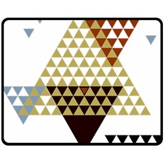 Colorful Modern Geometric Triangles Pattern Double Sided Fleece Blanket (medium)  by Dushan