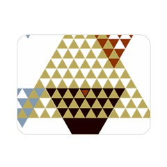 Colorful Modern Geometric Triangles Pattern Double Sided Flano Blanket (mini)  by Dushan