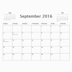 Calendar A By Peg   Wall Calendar 11  X 8 5  (12 Months)   Mqx2l72jtdtb   Www Artscow Com Sep 2016