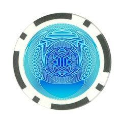 Swirling Dreams, Aqua Poker Chip Card Guards (10 pack)  by MoreColorsinLife