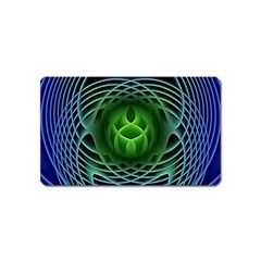 Swirling Dreams, Blue Green Magnet (name Card) by MoreColorsinLife