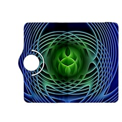 Swirling Dreams, Blue Green Kindle Fire HDX 8.9  Flip 360 Case by MoreColorsinLife