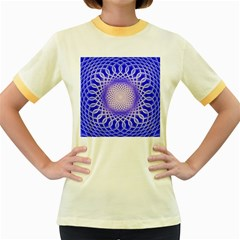 Swirling Dreams, Blue Women s Fitted Ringer T Shirts by MoreColorsinLife