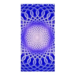 Swirling Dreams, Blue Shower Curtain 36  X 72  (stall)  by MoreColorsinLife
