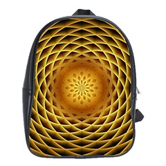 Swirling Dreams, Golden School Bags(large)  by MoreColorsinLife